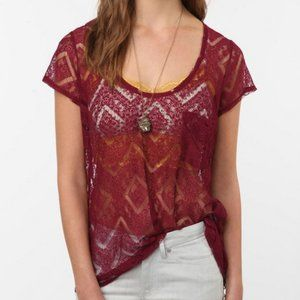 Urban Outfitters Short Sleeve Lace Top